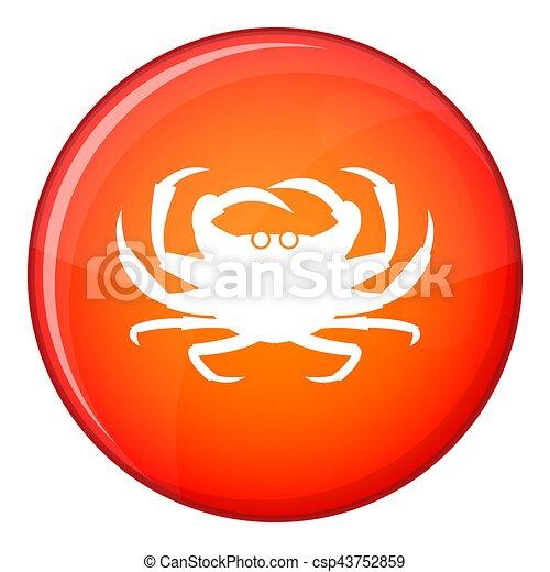 Crab icon, flat style - csp43752859