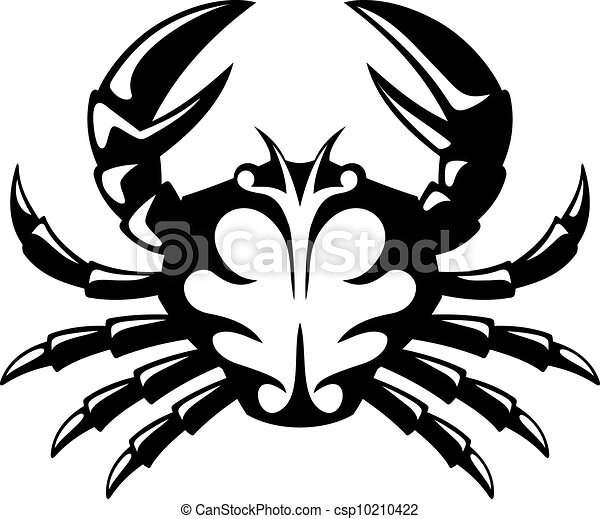 crab icon black and white tribal icon of a crab vector illustration search clipart drawings. Black Bedroom Furniture Sets. Home Design Ideas