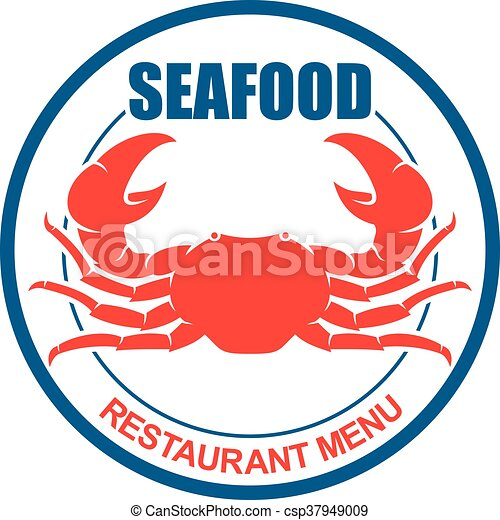crab on a plate retro icon for seafood menu design atlantic rh canstockphoto com Fried Rice Clip Art Picture Day Clip Art