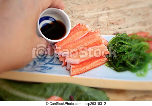 crab sticks on a plate - csp29318312