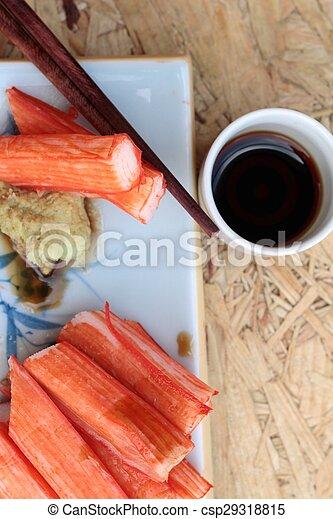 crab sticks on a plate - csp29318815