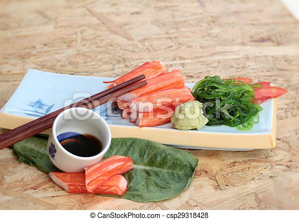 crab sticks on a plate - csp29318428