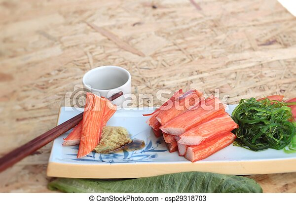 crab sticks on a plate - csp29318703