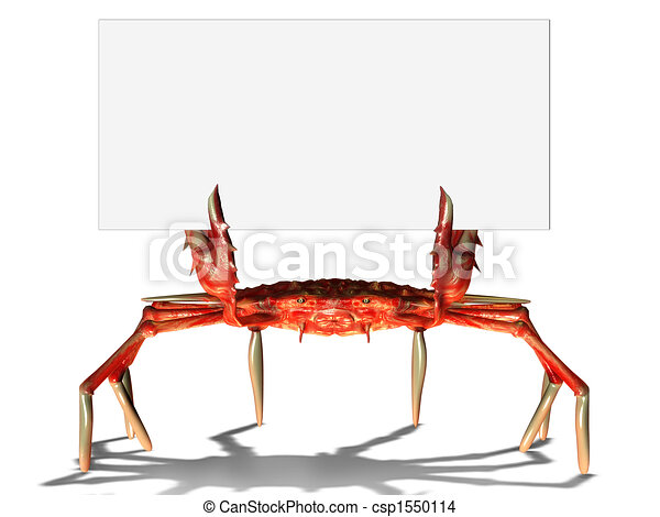 Crab with sign - csp1550114