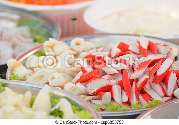 Crabfish and other seafood - csp6855755