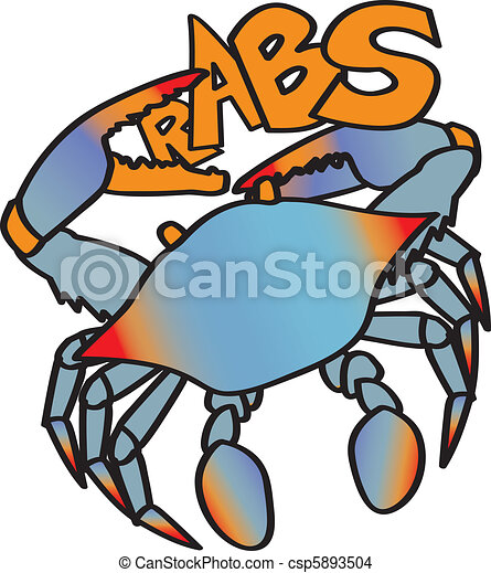 a chesapeake bay blue crab whose claw forms the c in the eps rh canstockphoto com Crab Fisherman maryland blue crab clipart