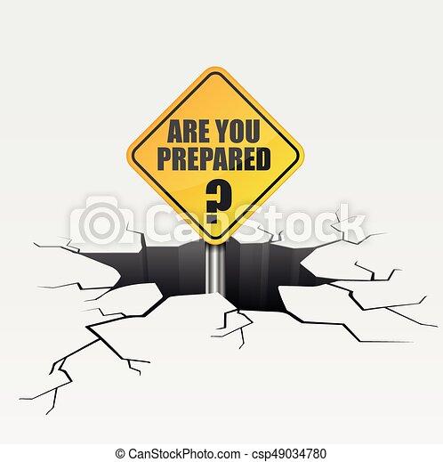 Crack Are You Prepared - csp49034780