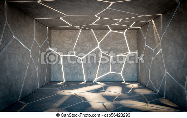 Cracked 3d Room