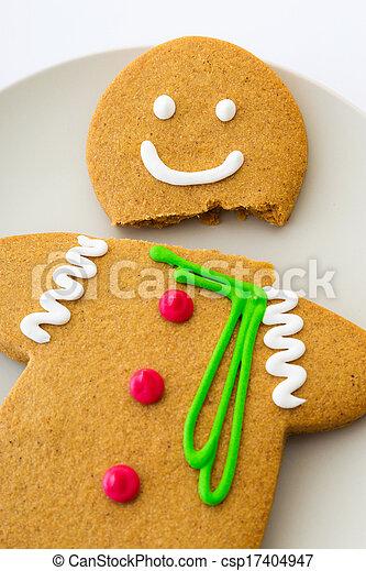 Cracked Gingerbread cookie - csp17404947