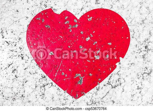 Cracked Heart Symbol Conceptual Broken Heart Shape On Floor Point
