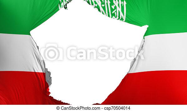 Cracked Somaliland Flag White Background 3d Rendering