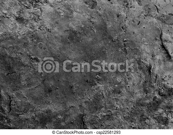 cracked stone rock in the style of grunge - csp22581293