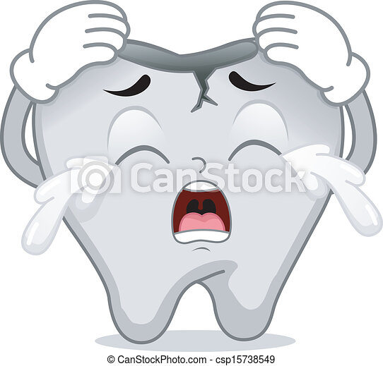 Cracked Tooth Mascot - csp15738549