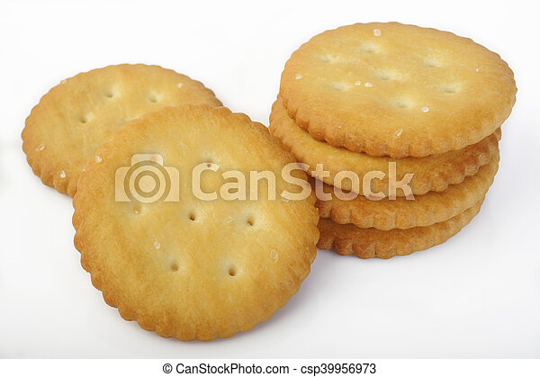 crackers on white background - csp39956973