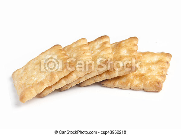 crackers on white background - csp43962218