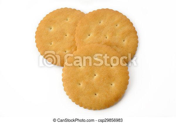 Crackers on white background - csp29856983