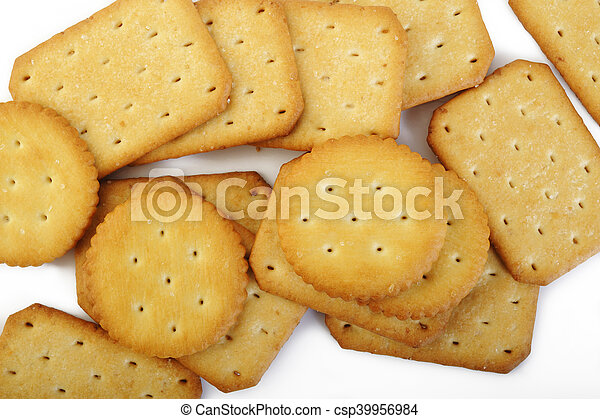 crackers on white background - csp39956984