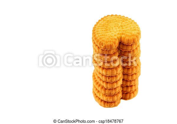 crackers on white background - csp18478767