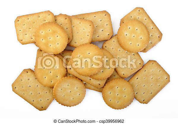 crackers on white background - csp39956962
