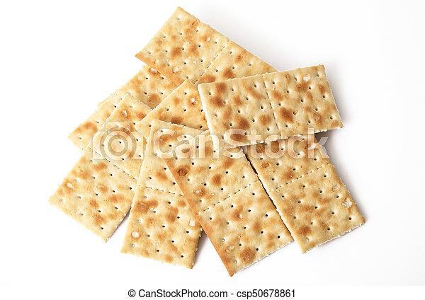 crackers on white background - csp50678861