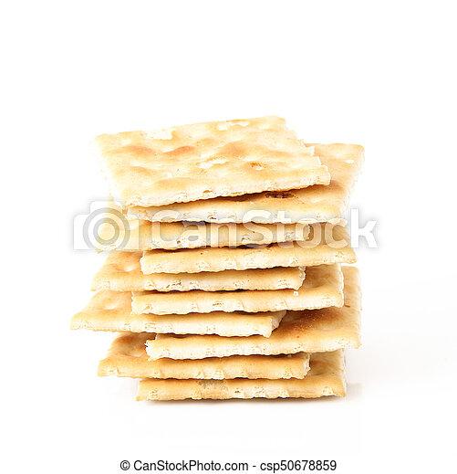 crackers on white background - csp50678859
