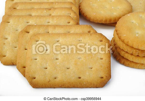crackers on white background - csp39956944