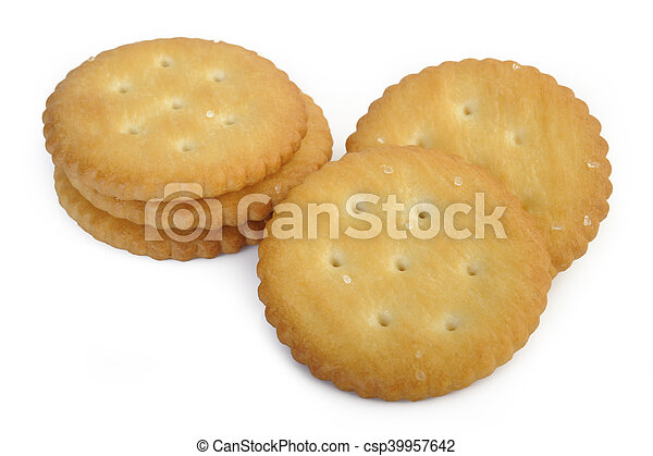 crackers on white background - csp39957642