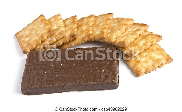 crackers on white background - csp43962229