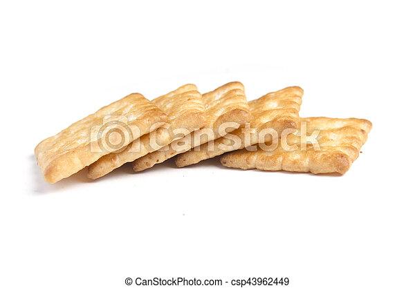 crackers on white background - csp43962449