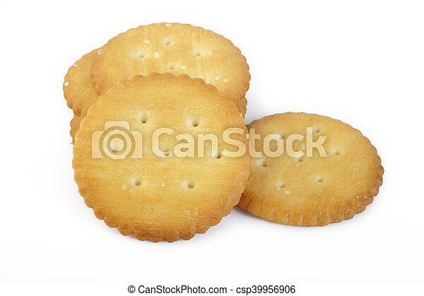 crackers on white background - csp39956906