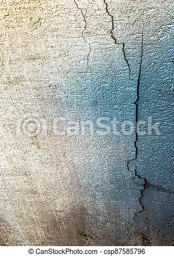 Cracks in the plaster on the wall - csp87585796