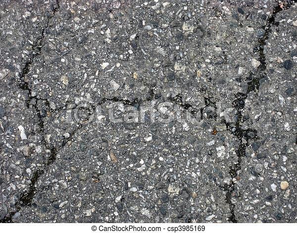 Cracks on asphalt - csp3985169