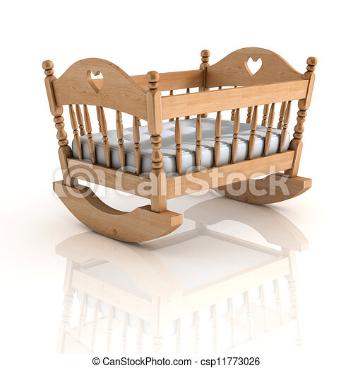 cradle 3d illustration  - csp11773026