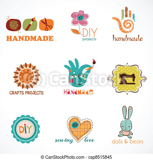 Craft And Do It Yourself Collection Of Icons Vector
