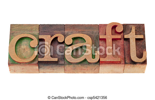 craft in letterpress type - csp5421356