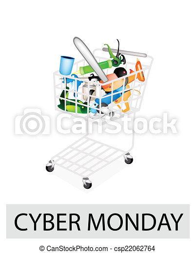 Craft Tools In Cyber Monday Shopping Cart A Shopping Cart Full With