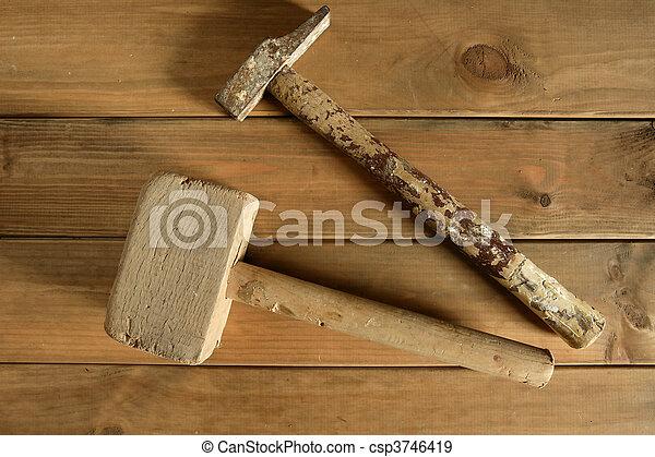 craftman carpenter hand tools artist - csp3746419