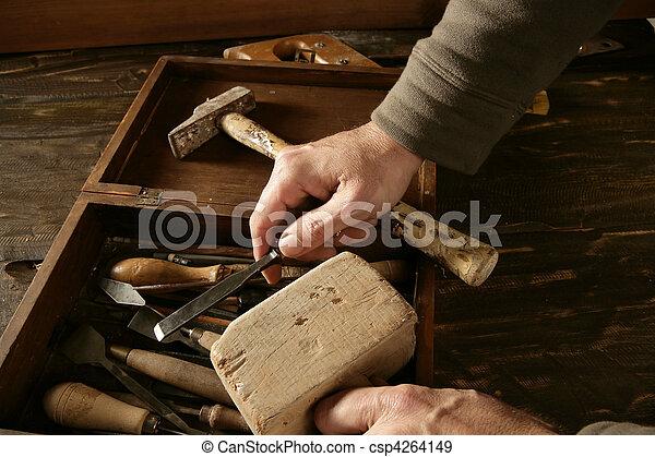 craftman carpenter hand tools artist - csp4264149