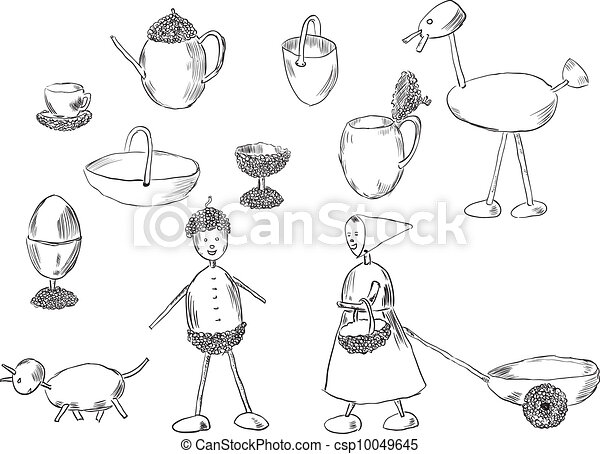 Crafts acorn - csp10049645