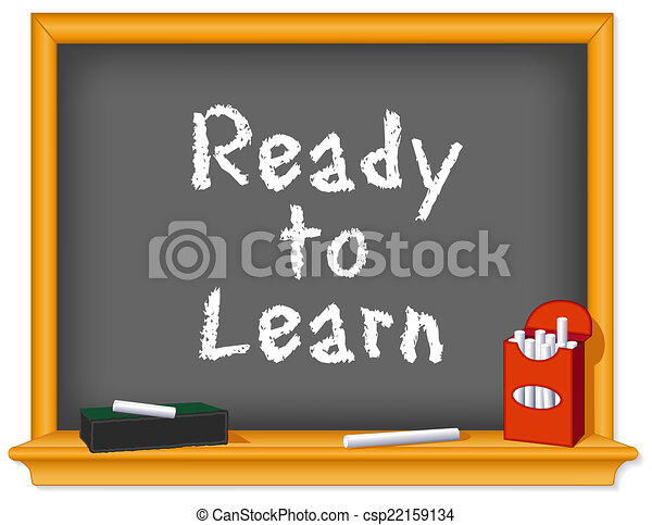 craie, prêt, planche, apprendre - csp22159134
