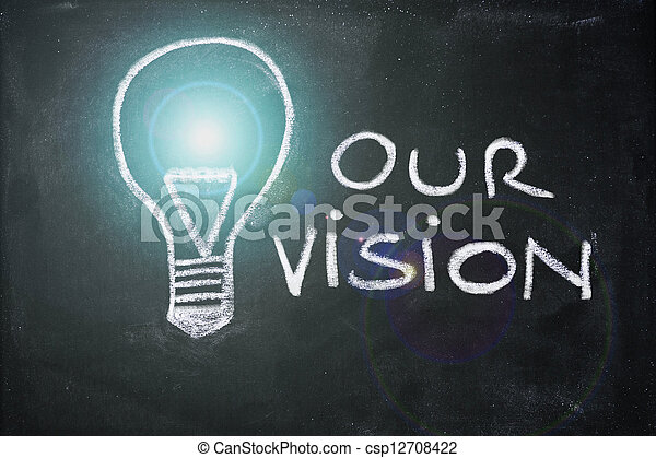 craie, vision, conception, lightbulb, business - csp12708422