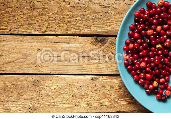 Cranberries on a plate - csp41183342