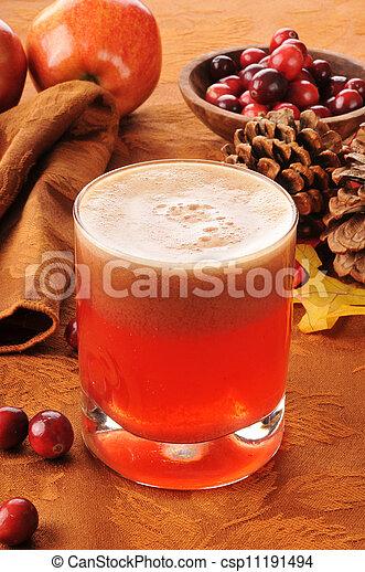 Cranberry apple juice - csp11191494