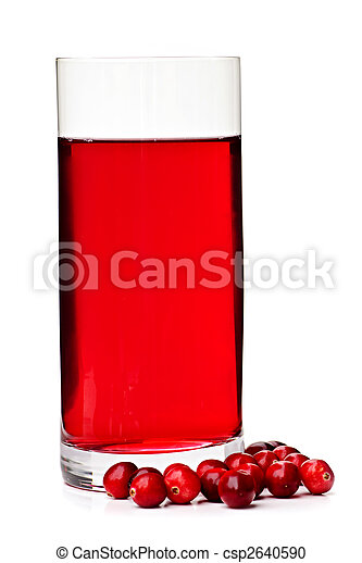 Cranberry juice in glass - csp2640590