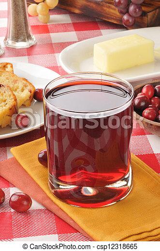 Cranberry juice - csp12318665