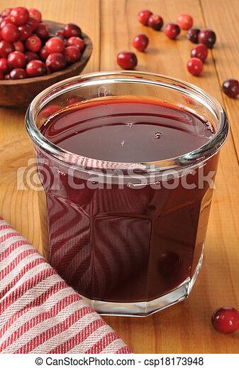 Cranberry juice - csp18173948