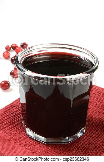 Cranberry juice - csp23662346