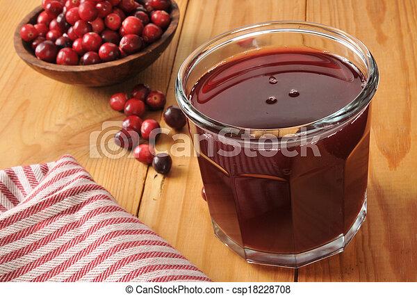 Cranberry juice - csp18228708
