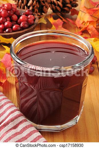 Cranberry juice - csp17158930