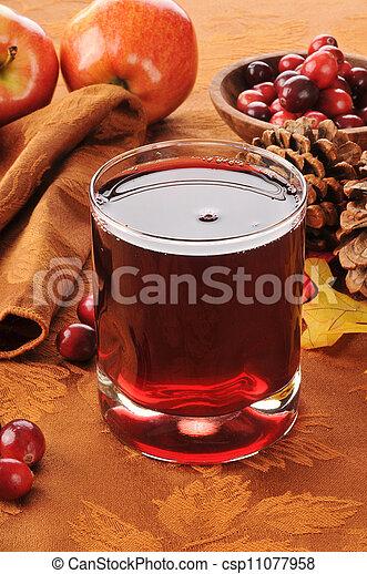 Cranberry juice with apple - csp11077958